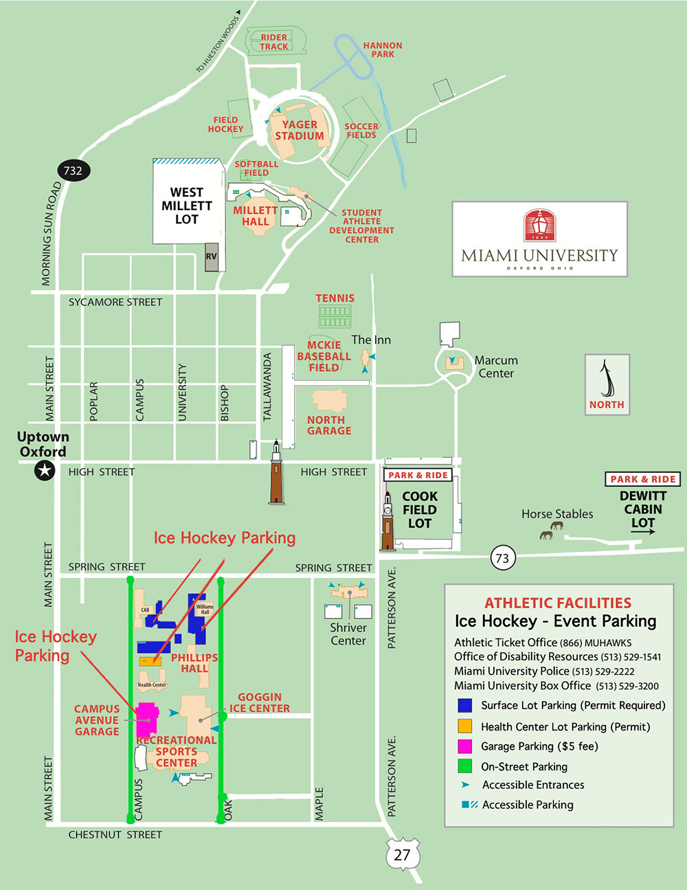 miami hamilton campus map Miami Redhawks Men S Ice Hockey Miami University Redhawks miami hamilton campus map
