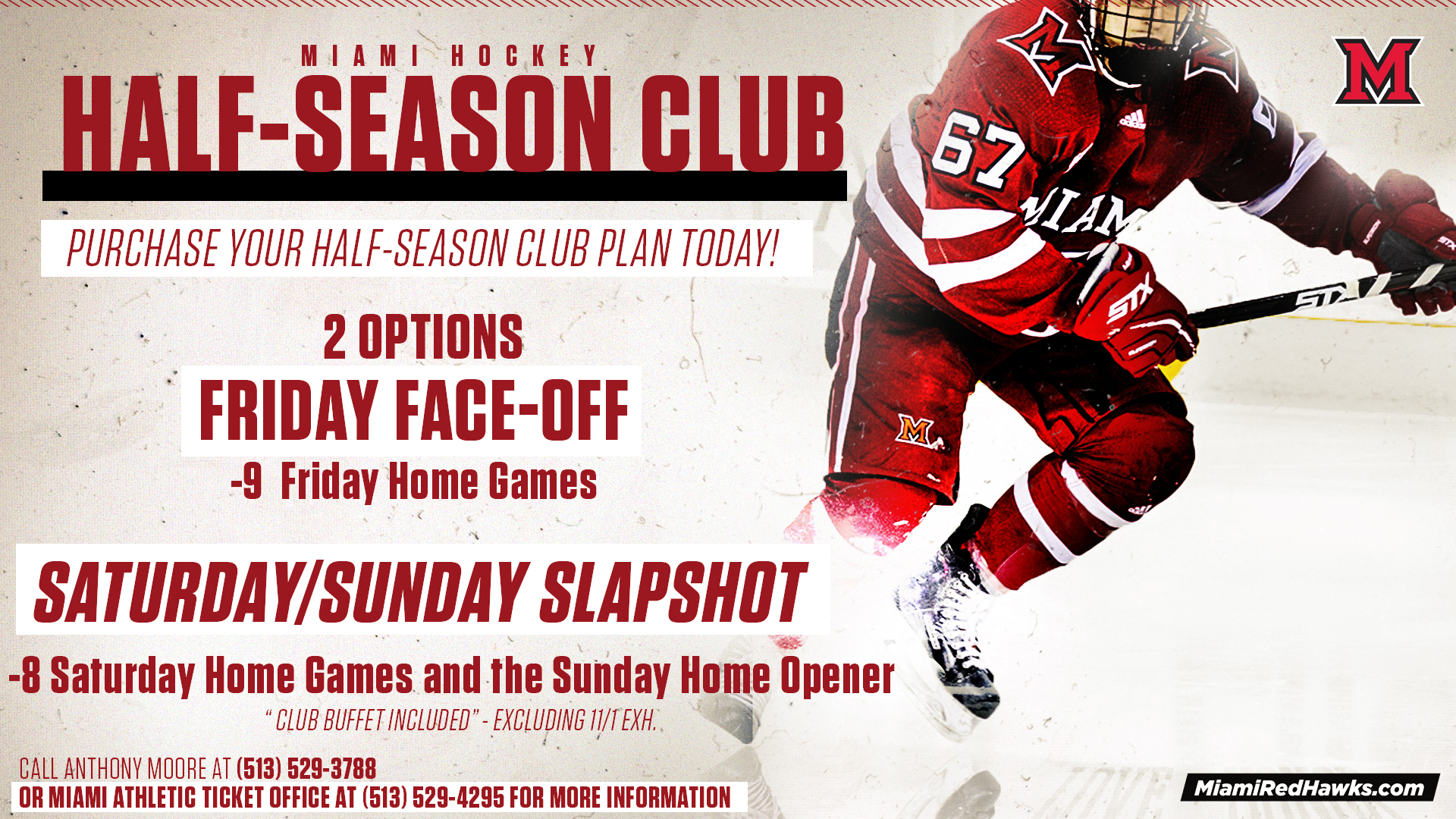 Hockey Half-Season Club Ticket Deals Available